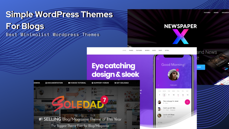 simple WordPress themes for blogs