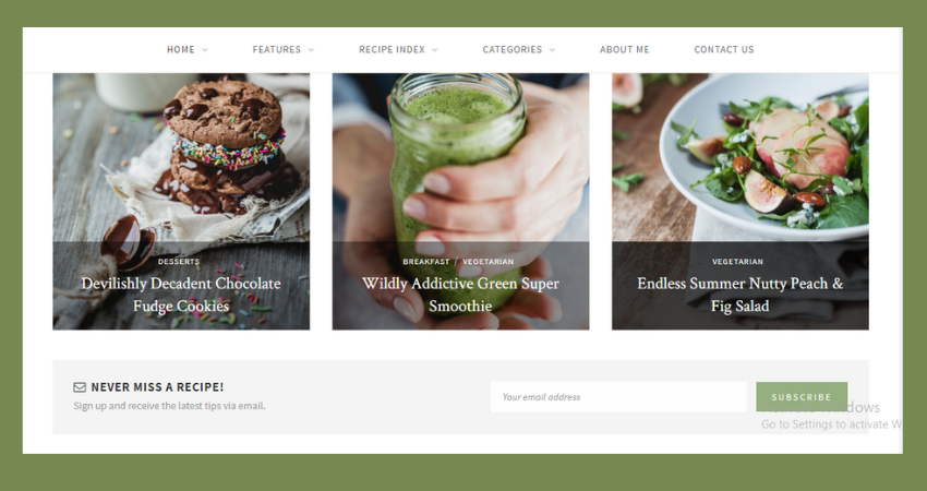 review group, Sprout & Spoon theme