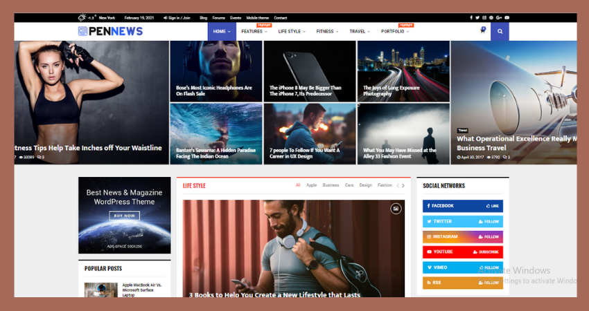 review group, pennews theme