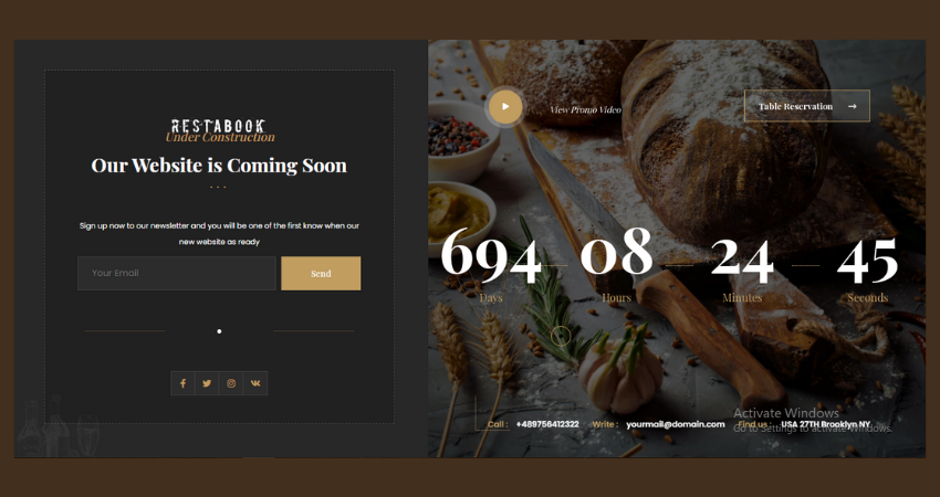review group, restabook theme
